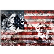 iCanvas Mount Rushmore, USA Flag Graphic Art on Canvas; 40'' H x 60'' W x 1.5'' D