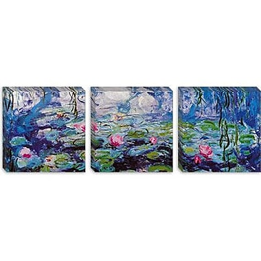 iCanvas 'Nympheas' by Claude Monet Painting Print on Canvas; 20'' H x 60'' W x 0.75'' D