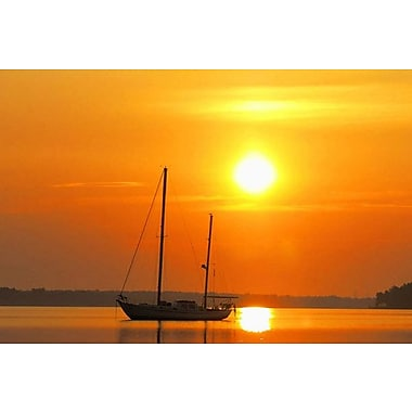 iCanvas Photography Sunrise Sail Boat Photographic Art on Wrapped Canvas; 8'' H x 12'' W x 0.75'' D