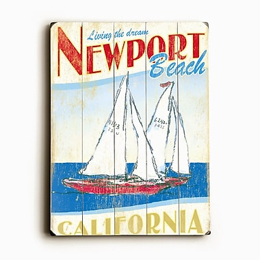 Artehouse LLC Sailboats Planked by Flavia Vintage Advertisement Plaque