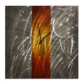 Metal Art Studio 22'' Stripe Wall Clock; Orange