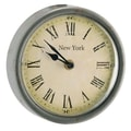 Barreveld 6.3'' Wood / Glass New York Round Clock; Large