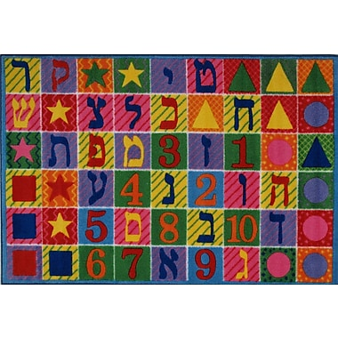 Fun Rugs Supreme Hebrew Numbers and Letters Kids Rug; 5'3'' x 7'6''