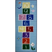 Fun Rugs Fun Time Primary Hopscotch Kids Rug; 1'7'' x 2'5''