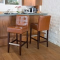 Home Loft Concept Exclusives Brinkley Bar Stool (Set of 2); Hazelnut