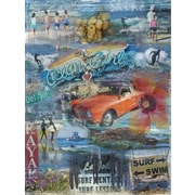 Graffitee Studios Surf Del Sol Wrapped Photographic Print on Canvas