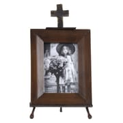 Wilco Cross Metal Picture Frame; 4'' x 6''