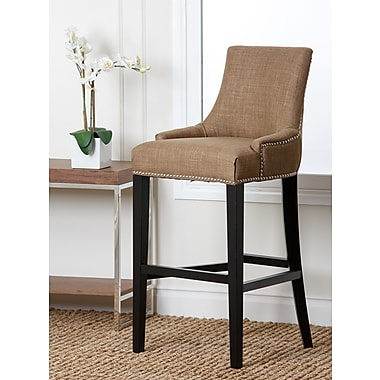 Abbyson Living Hudson 30'' Bar Stool with Cushion; Gold