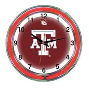 Wave 7 NCAA 18'' Team Neon Wall Clock; Texas A&M