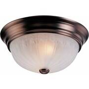 Volume Lighting Minster 1 Light Ceiling Fixture Flush Mount; Antique Bronze