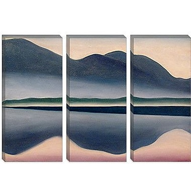 iCanvas Scenic Lake at Dawn Painting Print on Canvas; 40'' H x 60'' W x 1.5'' D