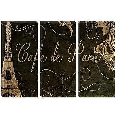 iCanvas 'Caf de Paris' by Color Bakery Vintage Advertisement on Canvas; 26'' H x 40'' W x 0.75'' D