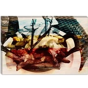 iCanvas Canada Poutine Dish, Potates and Gravy Graphic Art on Canvas; 26'' H x 40'' W x 1.5'' D