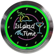 Neonetics 15'' Island Time Neon Clock