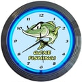 Neonetics 15'' Gone Fishing Neon Clock