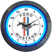 Neonetics 15'' Ford Mustang Blue Neon Clock