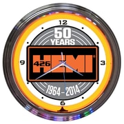Neonetics 15'' Hemi 50Th Anniversary Neon Clock