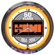 Neonetics 15'' Hemi 50Th Anniversary Neon Clock