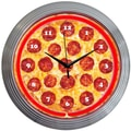 Neonetics 15'' Pizza Neon Clock