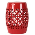 Woodland Imports Open Garden Stool; Red