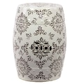 Woodland Imports Ceramic Garden Stool; White