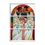 iCanvas 'Family Tree' by Keith Mallett Painting Print on Canvas; 12'' H x 8'' W x 0.75'' D