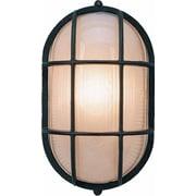 Volume Lighting 1 Light Outdoor Wall Mounted Light Fixture; Black