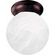 Volume Lighting Marti 1 Light Ceiling Fixture Flush Mount; Antique Bronze