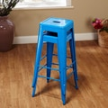 TMS 30'' Avalon Metal Stackable Stool (Set of 2); Blue