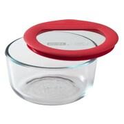 Pyrex Premium Glass Lids 16 Oz. Round Storage Dish; 2 Cups