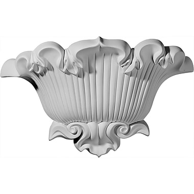 Ekena Millwork Shell 9 5/8''H x 15''W x 4 5/8''D Wall Sconce