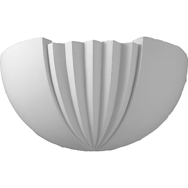 Ekena Millwork Traditional 16 1/2''H x 7''W x 6 7/8''D Wall Sconce