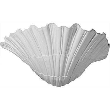 Ekena Millwork Shell 6 5/8''H x 11 3/8''W x 7 1/8''D Wall Sconce