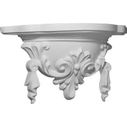Ekena Millwork Tassel 9 1/4''H x 17 5/8''W x 5 7/8''D Decorative Shelf