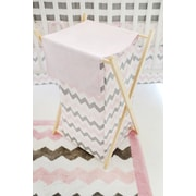 My Baby Sam Chevron Baby Hamper; Pink/Gray