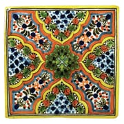 Native Trails Apricot Hand Painted Tile - 4x4 Tile; 4'' x 4''