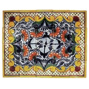Native Trails Golondrina 20'' x 16'' Hand Painted Talavera Mural (Set of 20)