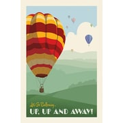 iCanvas 'SoN Hot Air Balloons' by Anderson Design Group Vintage Advertisement on Wrapped Canvas