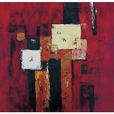 Acura Rugs Twilight Framed Original Painting on Wrapped Canvas
