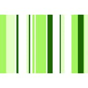 iCanvas Sour Apple Green Striped Graphic Art on Wrapped Canvas; 8'' H x 12'' W x 0.75'' D