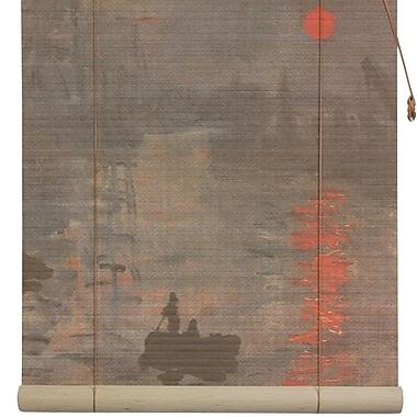 Oriental Furniture Impression Sunrise Bamboo Roller Blind; 48'' W x 72'' L