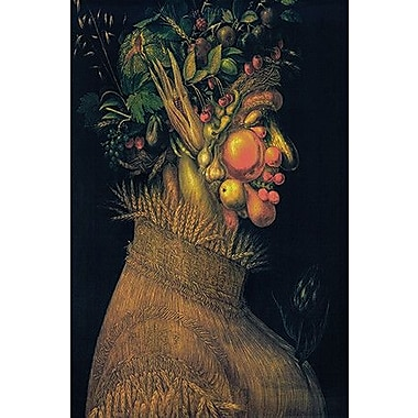 iCanvas 'The Summer' by Giuseppe Arcimboldo Painting Print on Canvas; 12'' H x 8'' W x 0.75'' D