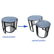 D-Art Collection Rattan 2 Piece Nesting Tables