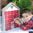 Home Bazaar Holiday Heart Advent Calendar; Whitewash