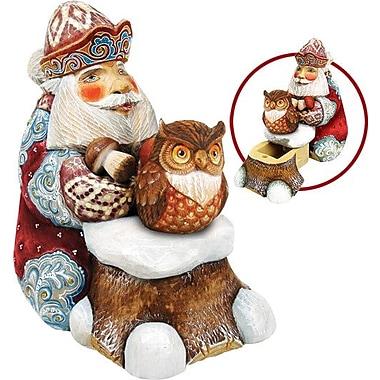 G Debrekht Derevo Saving Up Winter Owl Santa Box