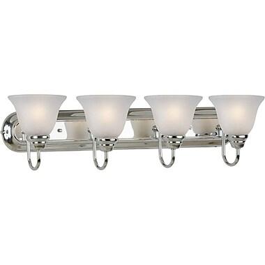 Forte Lighting 4 Light Vanity Light; Antique Bronze / Umber Linen