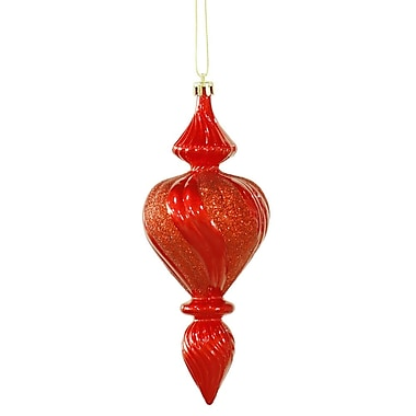 Vickerman Candy Finish Finial Christmas Ornament (Set of 3); Red