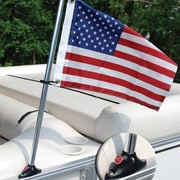 Taylor Made Products Pontoon Mounted Flag and Flagpole Set; 24'' H
