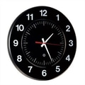 Peter Pepper 14'' Wall Clock; Black / White