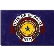 iCanvas El Paso Flag, Splatters Graphic Art on Canvas; 8'' H x 12'' W x 0.75'' D